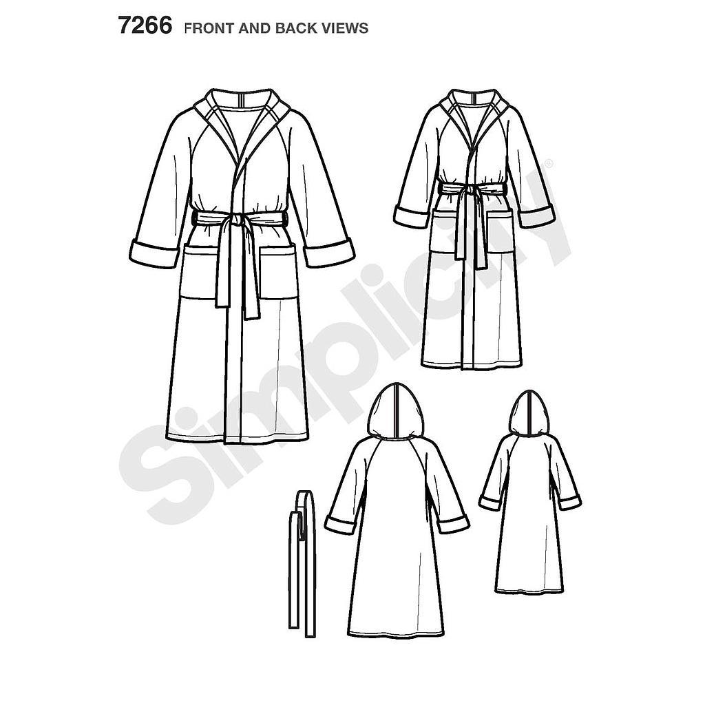 Patron Simplicity 3575 Robe De Chambre Adolescent Et Adulte Activa France