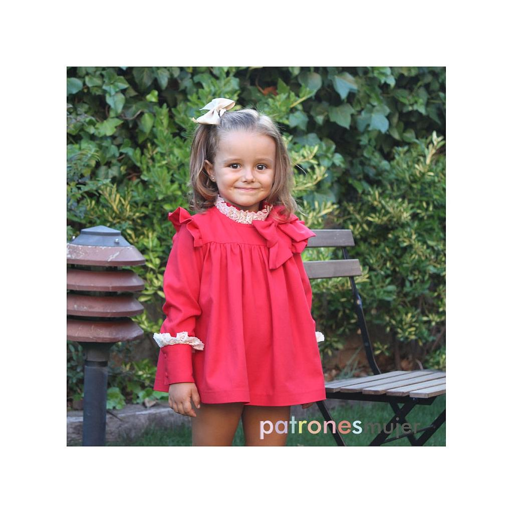 Patron PatronesMujer 9077 Robe chemisier pour fillettes 1