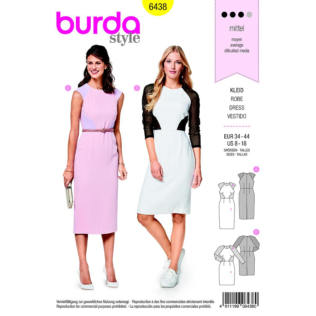 Patron Burda 6438 Robe