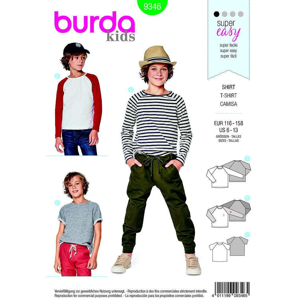 Patron Burda  Kids 9346 T shirt
