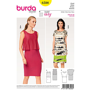 Patron Burda 6508 Robe
