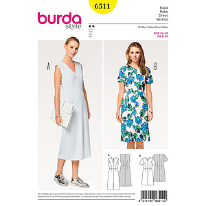 Patron Burda 6511 Robe