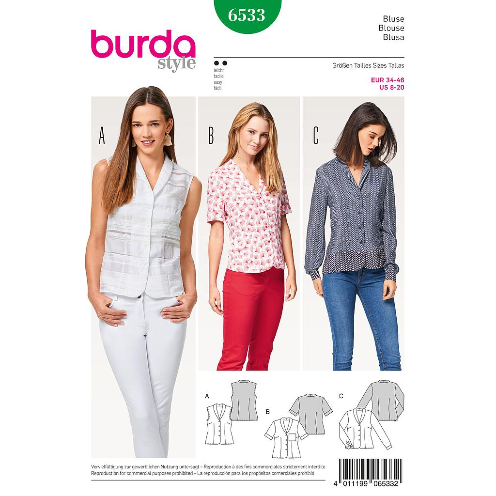 Patron Burda 6533 Blouse
