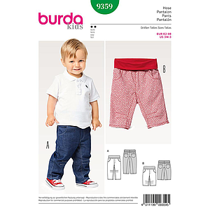Patron Burda Kids 9359 Pantalon enfant