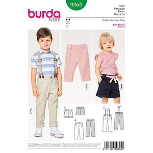 Patron Burda Kids 9365 Pantalon