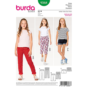 Patron Burda Kids 9368 Pantalon