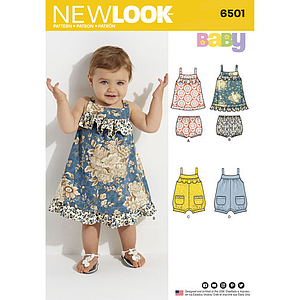 Patron New Look 6501 Robe bébé