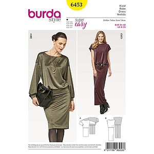 Patron Burda 6453 Robe