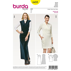 Patron Burda 6455 Robe