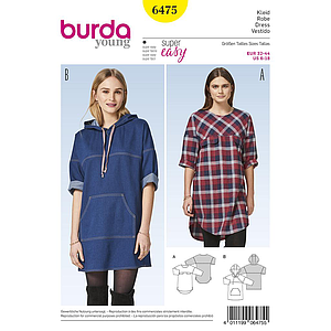 Patron Burda 6475 Robe