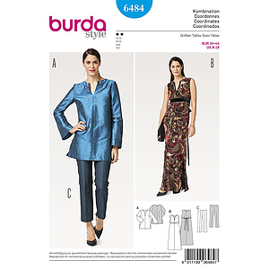 Patron Burda 6484 Ensemble