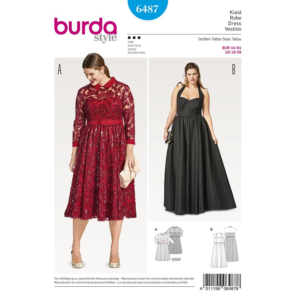 Patron Burda 6487 Robe