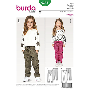 Patron Burda Kids 9352 Pantalon