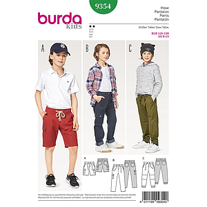 Patron Burda Kids 9354 Pantalon