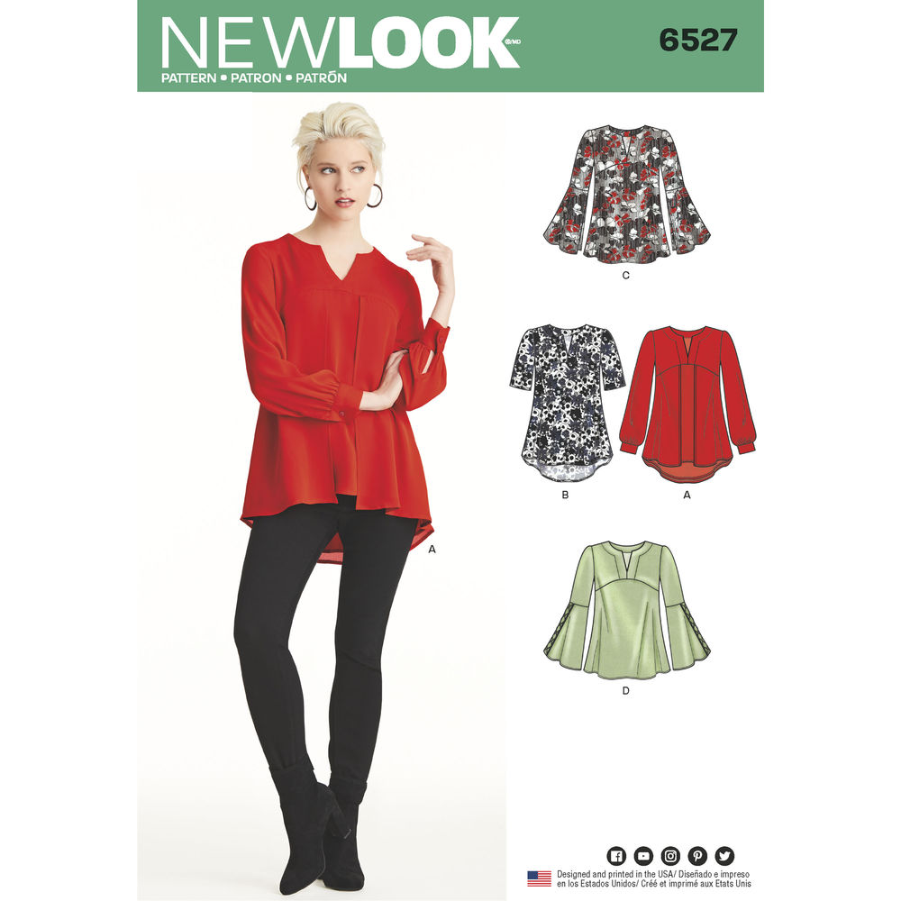 Patron New Look 6527 Blouse