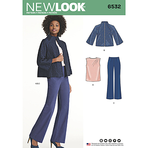 Patron New Look 6532 Ensemble dame