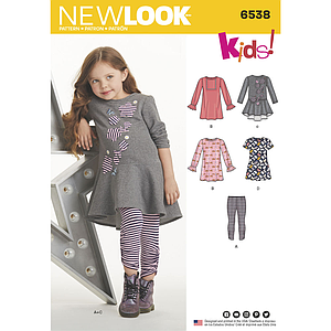 Patron New Look 6538 Ensemble pour fillette