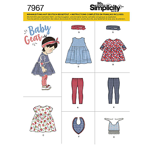 Patron Simplicity 7967 Ensemble fillette : A