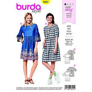 Patron Burda 6401 Robe