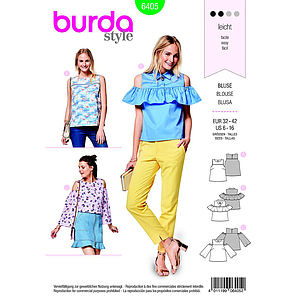 Patron Burda 6405 Blouse