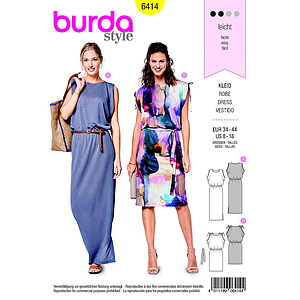 Patron Burda 6414 Robe