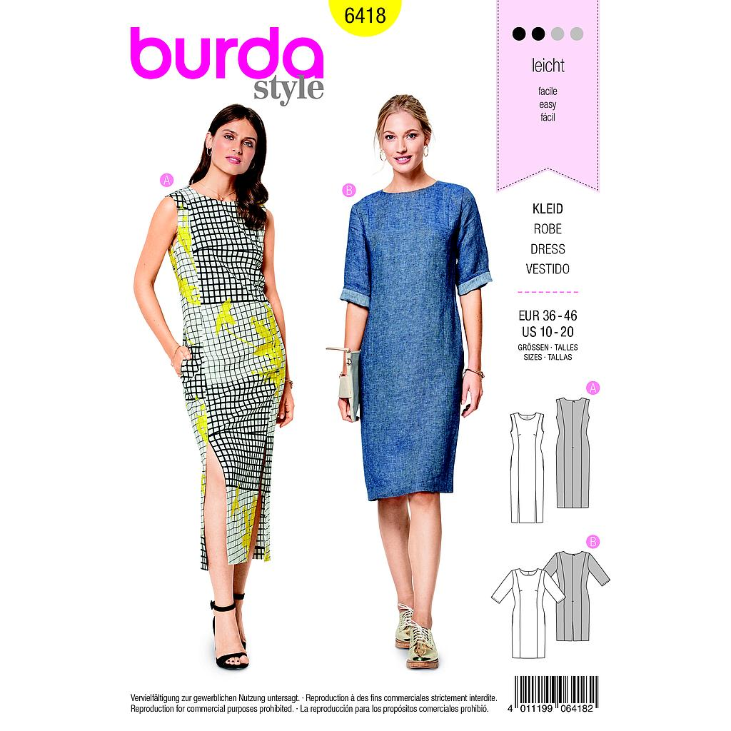 Patron Burda 6418 Robe