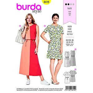 Patron Burda 6419 Robe