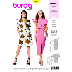 Patron Burda 6420 Robe