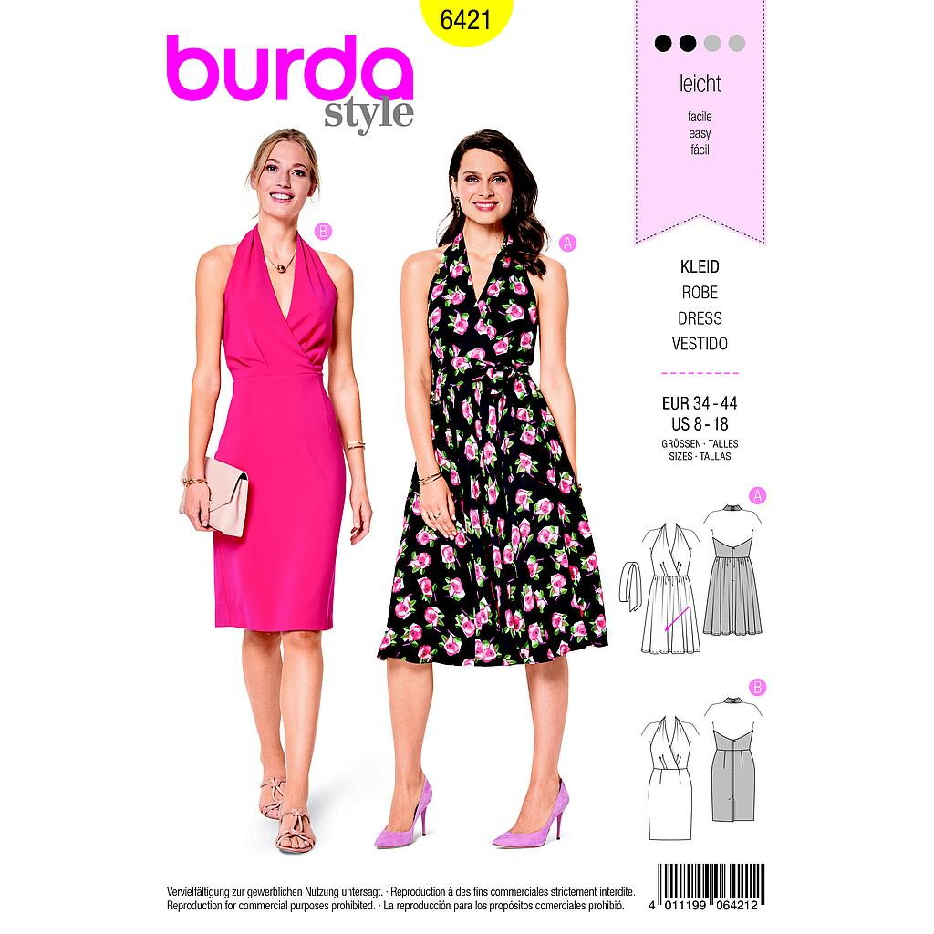 Patron Burda 6421 Robe