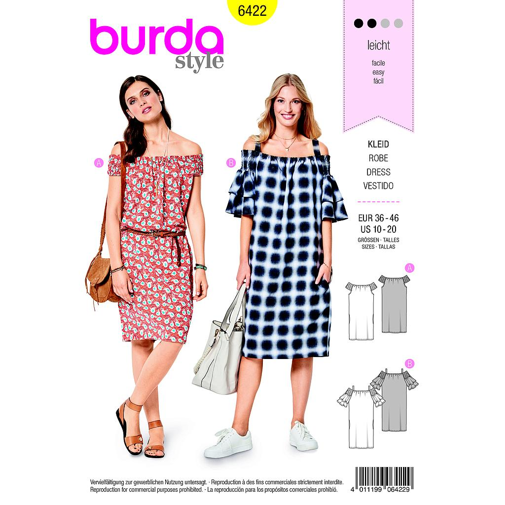 Patron Burda 6422 Robe