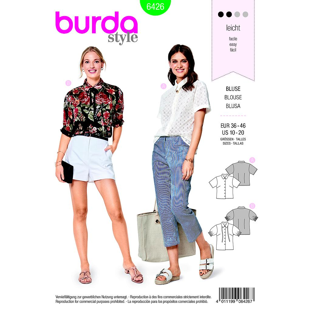 Patron Burda 6426 Blouse