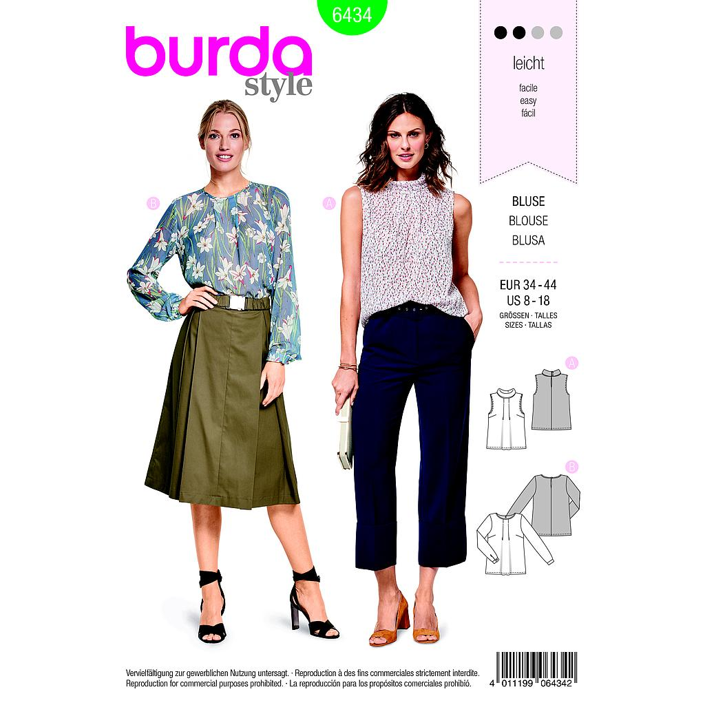 Patron Burda 6434 Blouse