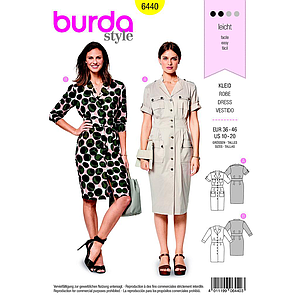 Patron Burda 6440 Robe