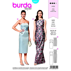 Patron Burda 6441 Robe