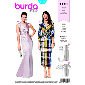Patron Burda 6442 Robe