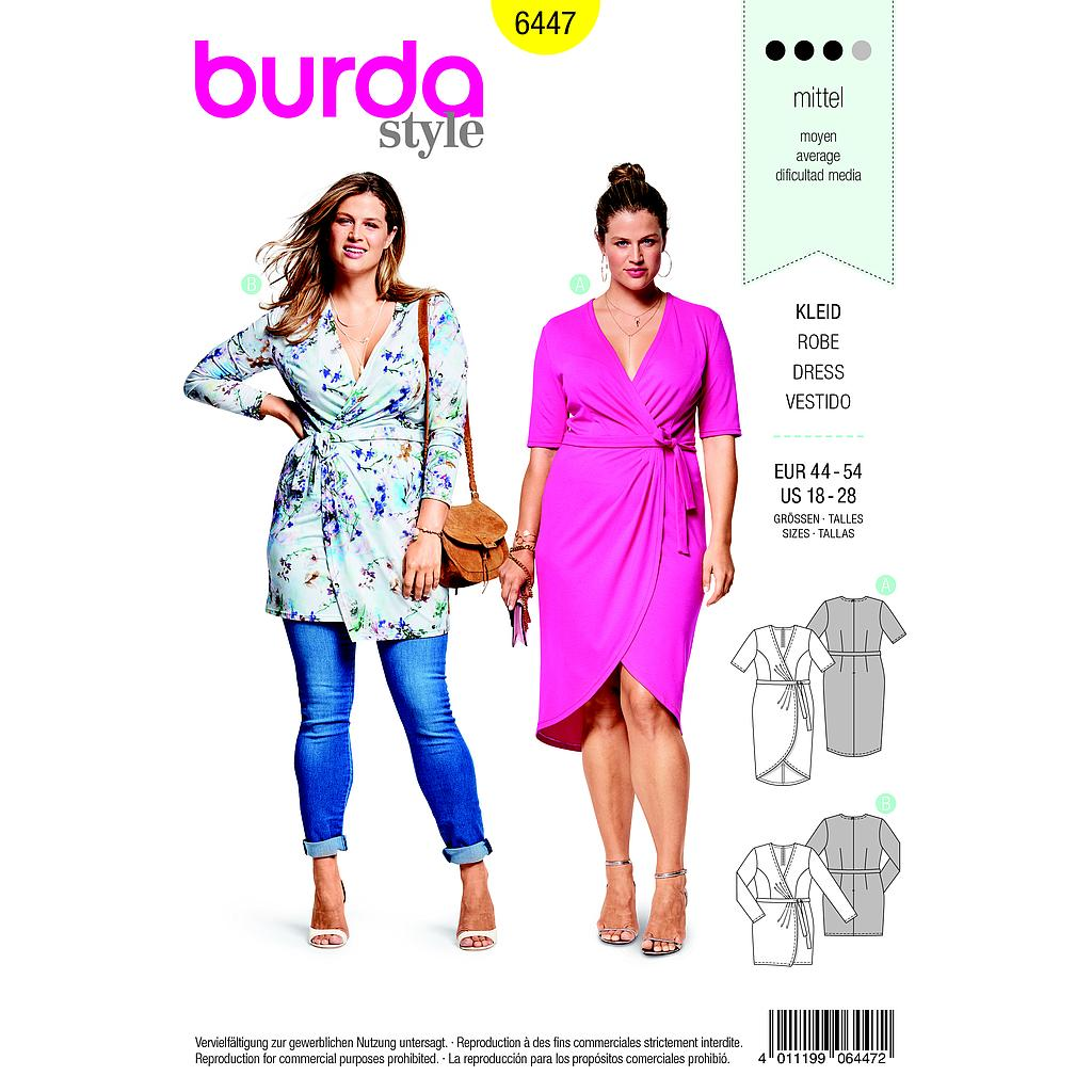 Patron Burda 6447 Robe