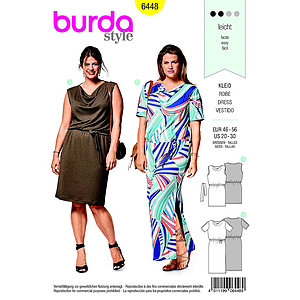 Patron Burda 6448 Robe