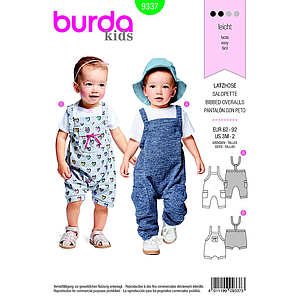 Patron Burda  Kids 9337 Salopette