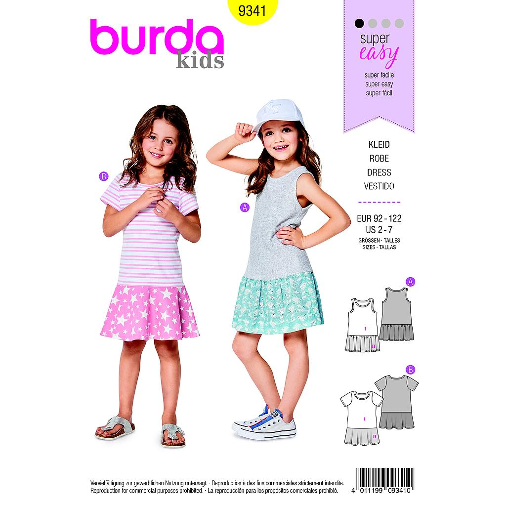 Patron Burda  Kids 9341 Robe