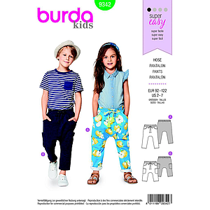 Patron Burda  Kids 9342 Pantalon