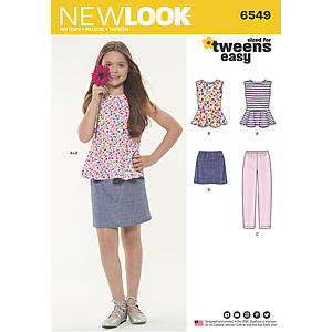 Patron New Look 6549 Ensemble pour fillette