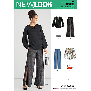 Patron New Look 6582 Tunique et pantalon