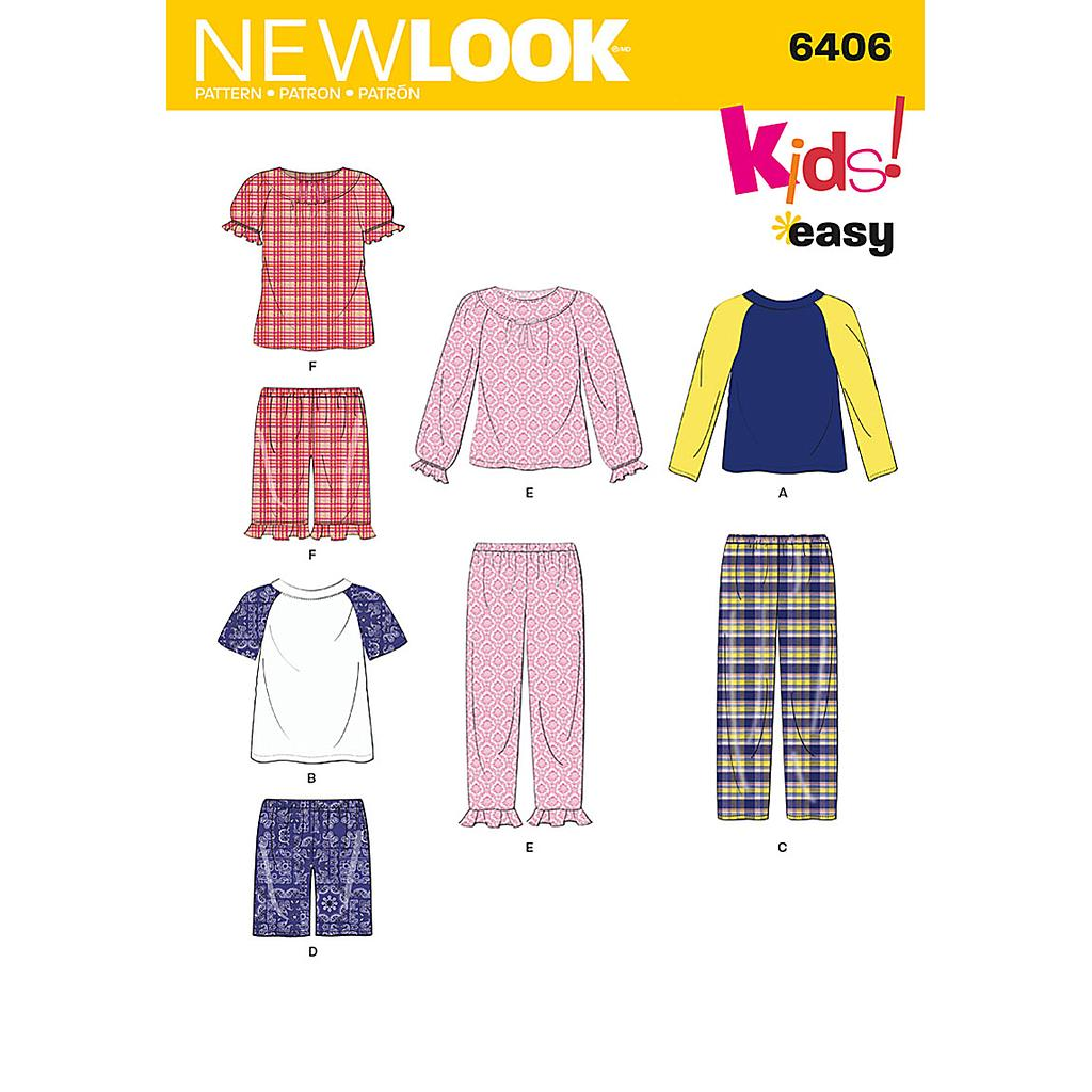 Patron New Look 6406 Pyjama enfants