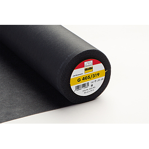 G 405 Entoilage thermocollant souple - anthracite - 90cm x 25m