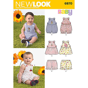 Patron New Look 6970 ensemble bébé