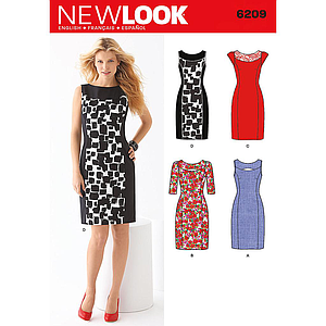 Patron New Look 6209 Robe tailleur