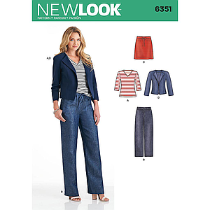 Patron New Look 6351 Ensemble dame