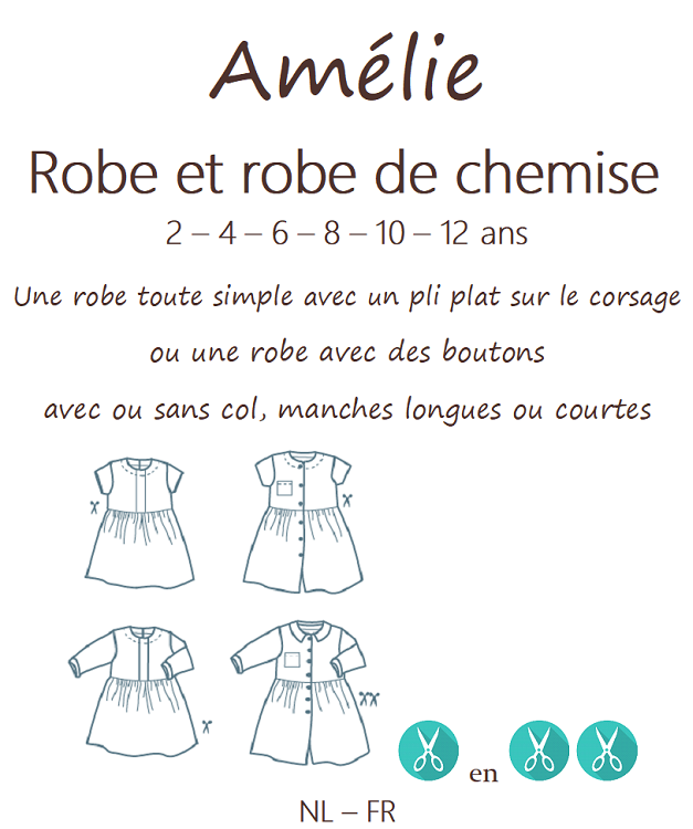 Patron CoupCoup AMELIE Robe - 2 à 12 ans