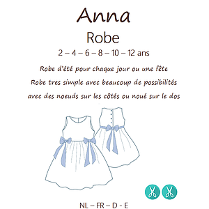 Patron CoupCoup ANNA Robe - 2 à 12 ans