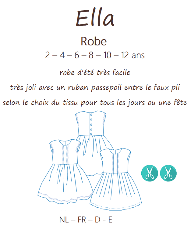 Patron CoupCoup ELLA Robe - 2 à 12 ans